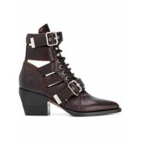 Chloé Ankle boot 'Rylee 60' de couro - Roxo