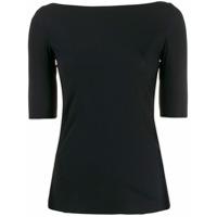 Filippa-K Camiseta Slim Decote Canoa - Preto
