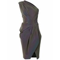 Maticevski Vestido Drapeado Furta-Cor - Roxo