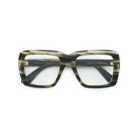 Gucci Eyewear Óculos De Sol Oversized - Cinza