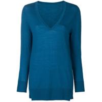 Sottomettimi Suéter Com Decote V - Azul
