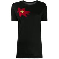 Yohji Yamamoto Chest Print T-Shirt - Preto