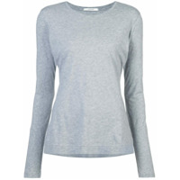 Adam Lippes Round Neck Long-Sleeved Top - Cinza