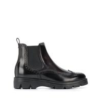 Santoni Ankle Boot Com Textura - Preto