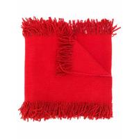 Uma Wang Echarpe Com Franjas - Vermelho