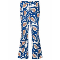Marni Calça Cropped Estampada - Azul