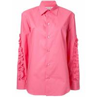 Marni Camisa Com Babado - Rosa