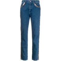 Christopher Kane Calça Jeans Com Aplicações - Azul