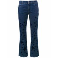 Stella Mccartney Calça Jeans Flare Com Estampa De Estrelas - Azul