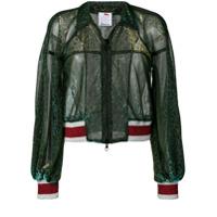 Ultràchic Stripe Trimmed Bomber Jacket - Green