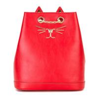 Charlotte Olympia Mochila De Couro Modelo 'feline' - Vermelho