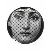 Fornasetti Pires Com Estampa De Face - Preto