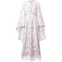 Ingie Paris Vestido Kaftan Longo Floral - Branco