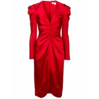 Jonathan Simkhai Vestido Com Franzido - Vermelho