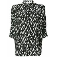 Givenchy Camisa 'Lightening Bolt' de seda - Preto