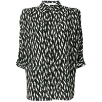 Givenchy Camisa 'lightening Bolt' De Seda - Preto