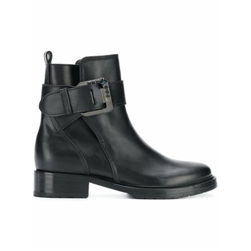 Imagem de Lanvin Ankle boot de couro com fivela - Preto