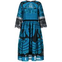 Alberta Ferretti Vestido Midi - Azul