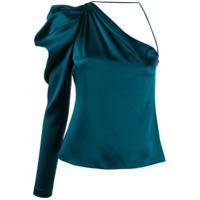 Cushnie Blusa Assimétrica De Seda - Azul