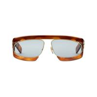 Gucci Eyewear Óculos De Sol Retangular - Marrom