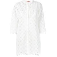 Ermanno Scervino Camisa Com Renda - Branco
