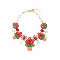 Dolce & Gabbana Colar Floral - Vermelho