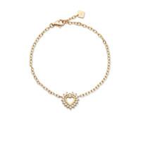 Nouvel Heritage Pulseira Mystic Love De Ouro 18K Com Diamante - Dourado