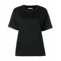 Marni Camiseta Com Gola Careca - Preto