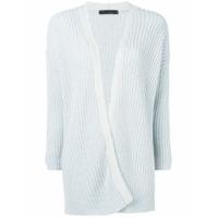 Incentive! Cashmere Cardigan De Cashmere Com Abertura Frontal - Azul