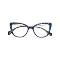 Miu Miu Eyewear Óculos De Sol De Gatinho - Azul
