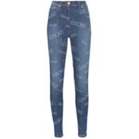 Versace Calça Jeans Skinny Monogramada - Azul