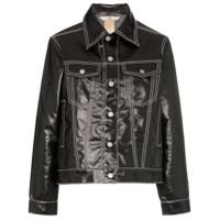 Eytys Buck High Shine Contrast Stitch Denim Jacket - Preto