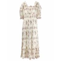 Love Shack Fancy Vestido Com Estampa Floral - Neutro