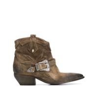 Strategia Ankle Boot Cowgirl - Marrom