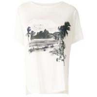 Osklen T-Shirt Canelada Com Estampada - Branco