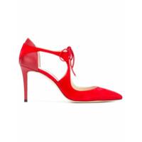 Jimmy Choo Sapato Com Amarração - Vermelho