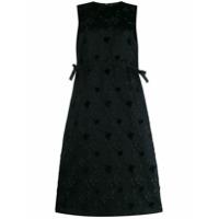 Comme Des Garçons Noir Kei Ninomiya Vestido Reto Floral - Preto