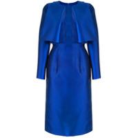Saiid Kobeisy Vestido Slim Com Recortes Translúcidos - Azul