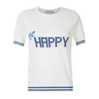 Martha Medeiros T-Shirt Be Happy De Tricô - Branco