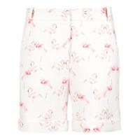 Olympiah Short Flamingo Estampado X Silvia Braz - Branco