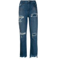 J Brand Calça Jeans Com Aplicações - Azul