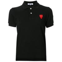Comme Des Garçons Play Camisa Polo Com Logo - Preto