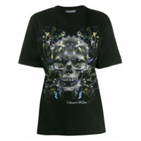 Alexander Mcqueen Camiseta Com Estampa De Flores E Caveiras - Preto