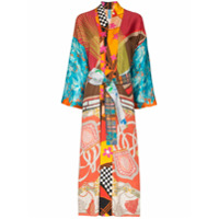 Rianna + Nina Robe Kimono Com Mix De Estampas - Multicoloured