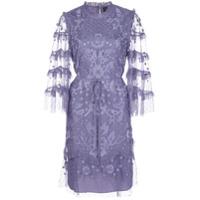 Needle & Thread Vestido Com Bordado Floral - Roxo