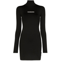 Vetements Vestido Mini Com Estampa De Logo - Preto