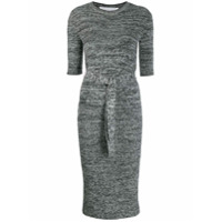 Victoria Victoria Beckham Ribbed Knit Sweater Dress - Cinza