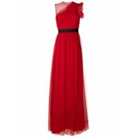 Reinaldo Lourenço Vestido Longo Em Tule - Vermelho