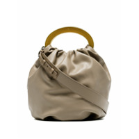 Gu_De Beige Posy Drawstring Leather Bag - Neutro