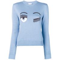 Chiara Ferragni Suéter Com Padronagem Flirting - Azul